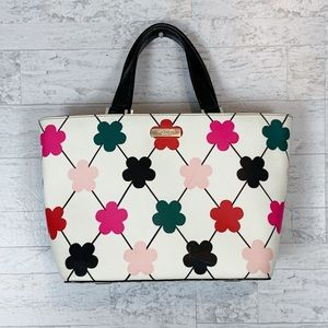 Kate Spade Juno flower multicolor leather tote